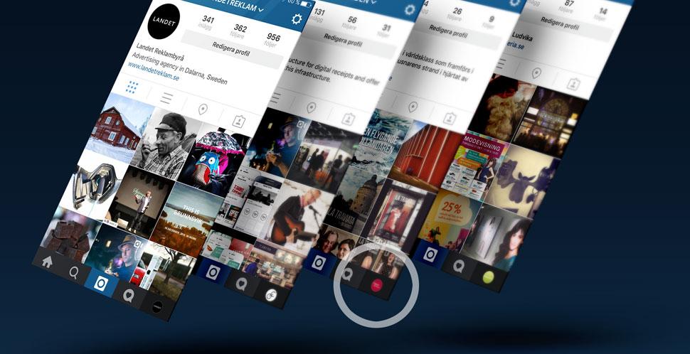 Hantera flera konton med Instagram