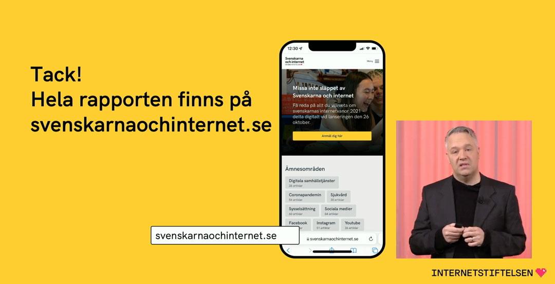 Svenskarna och internet 2021 | Livepresentationen